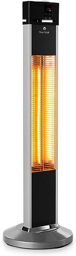 blumfeldt Heat Guru – Standheizstrahler, Wärmestrahler, Infrarotstrahler, 3 Heizstufen von 650, 1350 und 2000 Watt, IP34 Spritz- und…