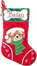 The Christmas Cart Personalised Gifts & Keepsakes Personalised Dog Christmas Stocking with Bone, Christmas Décor to Displa...