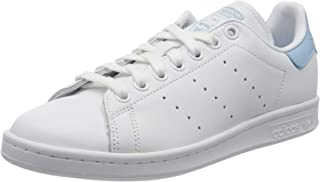 Adidas ORIGINALS Stan Smith W White/Clear Sky Leather 7 US Womens