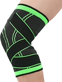 Flysea Store Knee Brace for Men or Women Sleeve Knee Compression with Side Stabilizers Knee Support for Running, Basketball, Weightlifting, Chart Jogging and Post Surgery Recovery Please Check Sizing