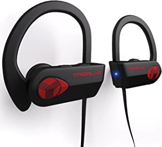 TREBLAB XR500 - Ultimate Cordless Bluetooth Running Headphones. Best Sport Wireless Earbuds for Gym. Noise Canceling Secur...