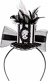 amscan Black & Bone Mini Top Hat