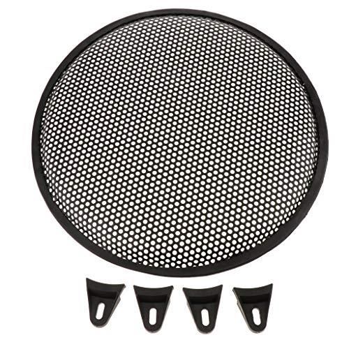 FLAMEER Lautsprecher Gitter Grill Lautsprecherabdeckung Gitter,schwarz,12 Zoll