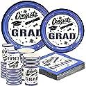 Larchio 30 Guest Graduation Plates and Napkins Cup Set