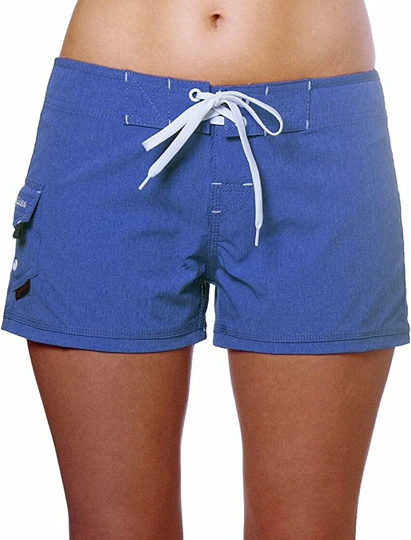 "Maui Rippers Women's 4-Way Stretch 2.5"" Swim Shorts Boardshorts"