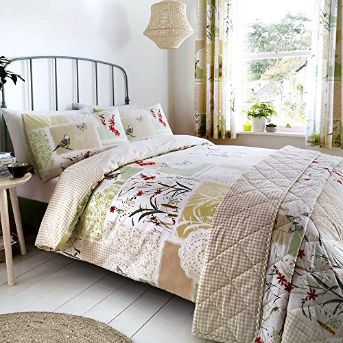 DREAMS AND DRAPES Dionne Parure pour Couette, 52% Polyester, 48% Coton, Multicolore, Double
