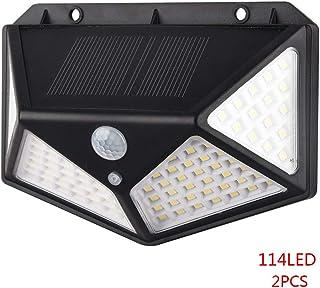 2pcs 114 LED Outdoor Solar Powered Lamp Motion Sensor Lights Garden Lanscape Waterproof Wall Lights