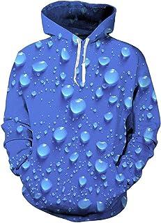 Doxi Unisex Sweatshirts Funny Pattern 3D Hoodie Pockets Teens Jumpers