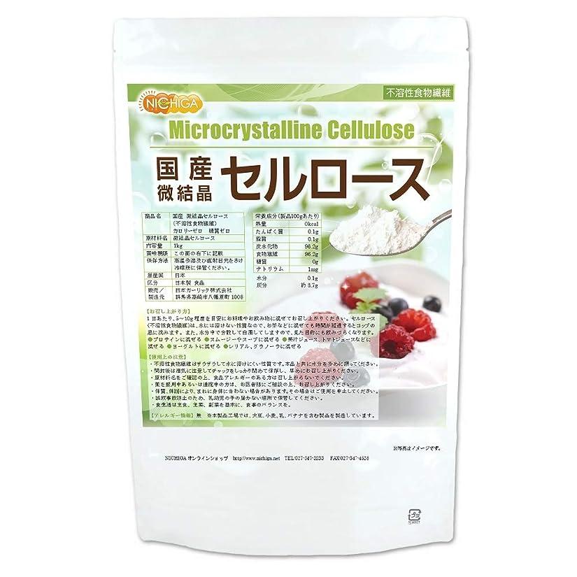 コア定数セールスマン国産 微結晶 セルロース 1kg (不溶性食物繊維) [02] カロリーゼロ 糖質ゼロ NICHIGA(ニチガ)
