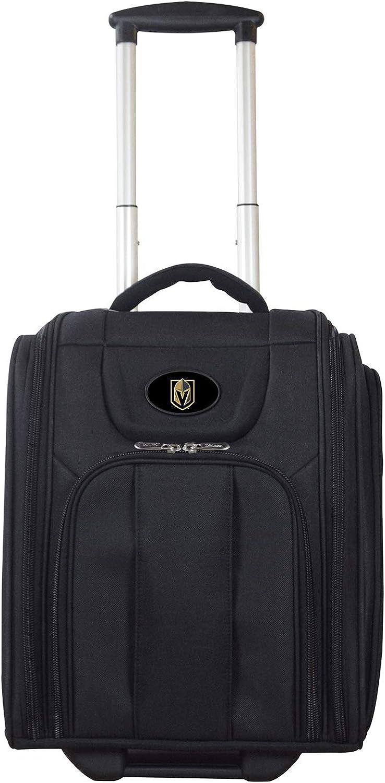 NHL Deluxe Wheeled Laptop Overnighter, UnisexAdult, NHL Vegas golden Knights Deluxe Wheeled Laptop Overnighter, NHGKL502, Black, 8.5