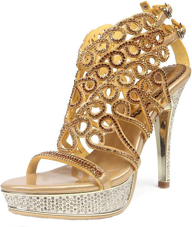 Women's Sparkly Crystal Diamante Gems Night Club Wedding Party Bridal Prom High Heel Sandals Slipper