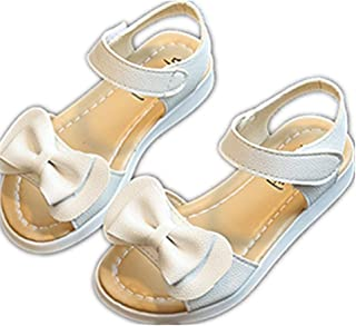 Girls Genuine Leather Soft Closed Toe Princess Flat Shoes Summer Sandals