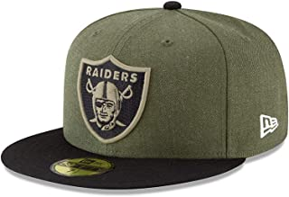 New Era Oakland Raiders On Field 18 Salute to Service Cap 59fifty 5950 Fitted Limited Edition