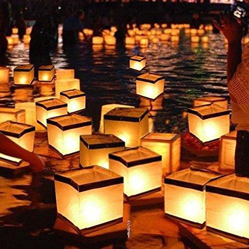 floating lanterns water - 2