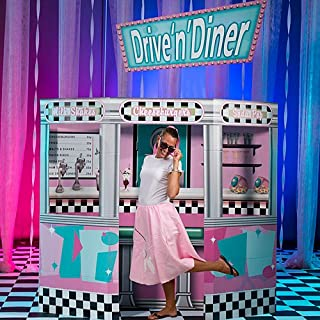 50s Fifties Diner Prop Standup Photo Booth Prop Background Backdrop Party Decoration Decor Scene Setter Cardboard Cutout
