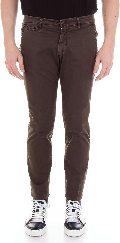 BRIGLIA 1949 Men's BG0538530DARKBROWN Brown Cotton Pants