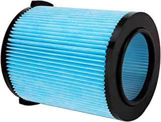 KONDUONE VF5000 Replacement Filter for Ridgid 5-20 Gallon Wet/Dry Vacuums - Replaces 72952 Filter (3-Layer Pleated Paper Filter, Blue)