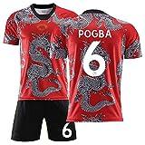 GWCASA Uniformes de fútbol para niños y niñas 2020 Conjuntos de Camisetas de dragón Chino, Pantalones Cortos de Camiseta de Equipo de Entrenamiento de fútbol para Adultos, Personalizables-6#-S