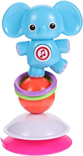 NUOBESTY Suction Rattle Toys Suction Cup Spinner High Chair Toy Elephant Baby Shaker Teether Toy Early Development Toy for...