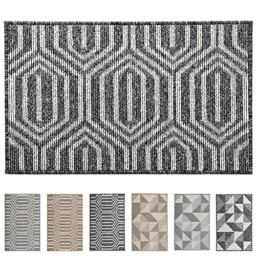 "Mejor Indoor Doormat, Non Slip Absorbent Resist Dirt Entrance Rug, 24""x36"" Large Size Machine Washable Low-Profile Inside Floor Door Mat crítica 2020"