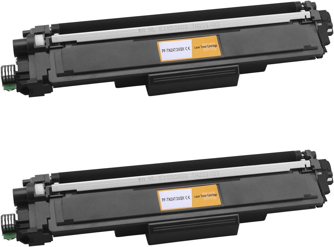 Gorilla Ink 5x Toner Cartridge Xxl With Chip For Brother Tn 243 Tn 247 Dcp L3510cdw L3550cdw Hl L3210cw L3230cdw L3270cdw Mfc L3710cw L3730cdn L3750cdw L3770cdw Black 3000 Pages Each Bürobedarf Schreibwaren