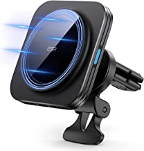 شارژر بی سیم اتومبیل ESR HaloLock Magnetic 7.5W [Attachment and Alignment] [Secure Air Vent Clamp] for iPhone 12/12 Pro / 12 mini / 12 Pro Max - Black