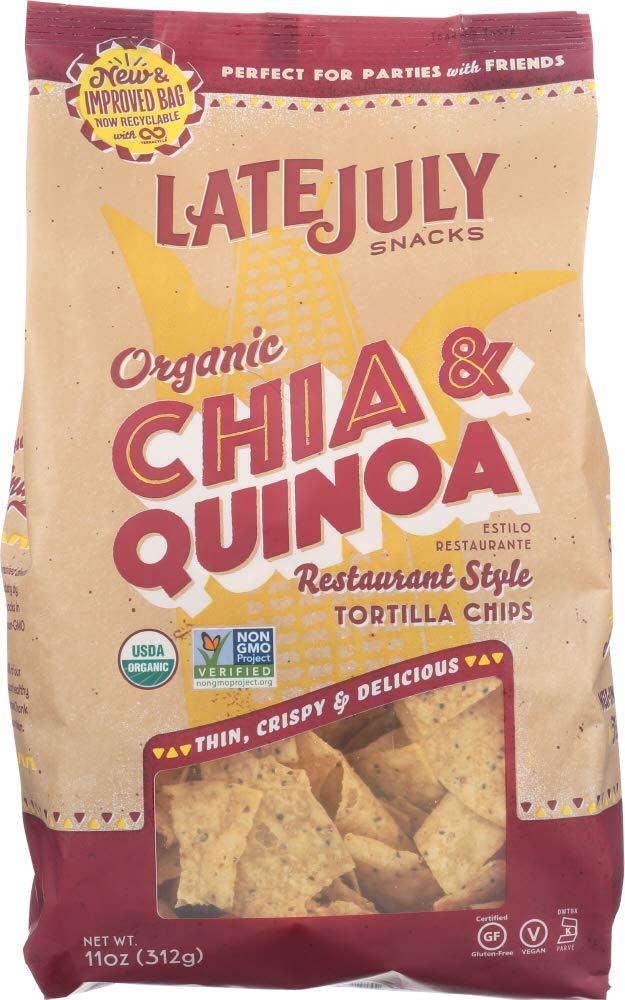 Late July Snacks Organic Tortilla Chips - O Thin Cheap bargain Popular products Multigrain 11
