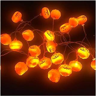 LIMUZI Halloween String Lights Batterijgevoede Pumpkin Lamp String Met 2 Lighting Modes geschikt for binnen en buiten de P...