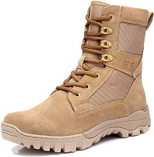 TAOBEGJ Bottes De Combat pour Hommes Desert Boot Respirant Commando Botte D'entraînement Tactique Armée Militaire Botte De...