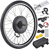 AW 26'x1.75' Rear Wheel 48V 1000W Electric Bicycle Motor Kit E-Bike Cycling Hub Conversion Dual Mode Controller