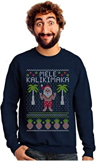 Mele Kalikimaka Hawaiian Santa Themed Ugly Christmas Sweater Sweatshirt