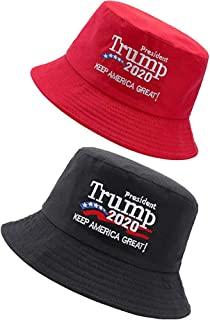 Opopark President Donald Trump Make America Great Hat Red Bucket Hat