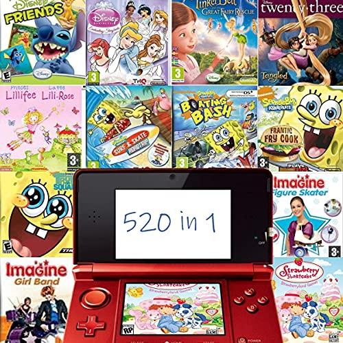 520 en 1 Jeu NDS Cartouche de Jeu DS Jeu Pack Super Combo pour DS NDS NDSL NDSi 3DS 2DS XL Nouveau