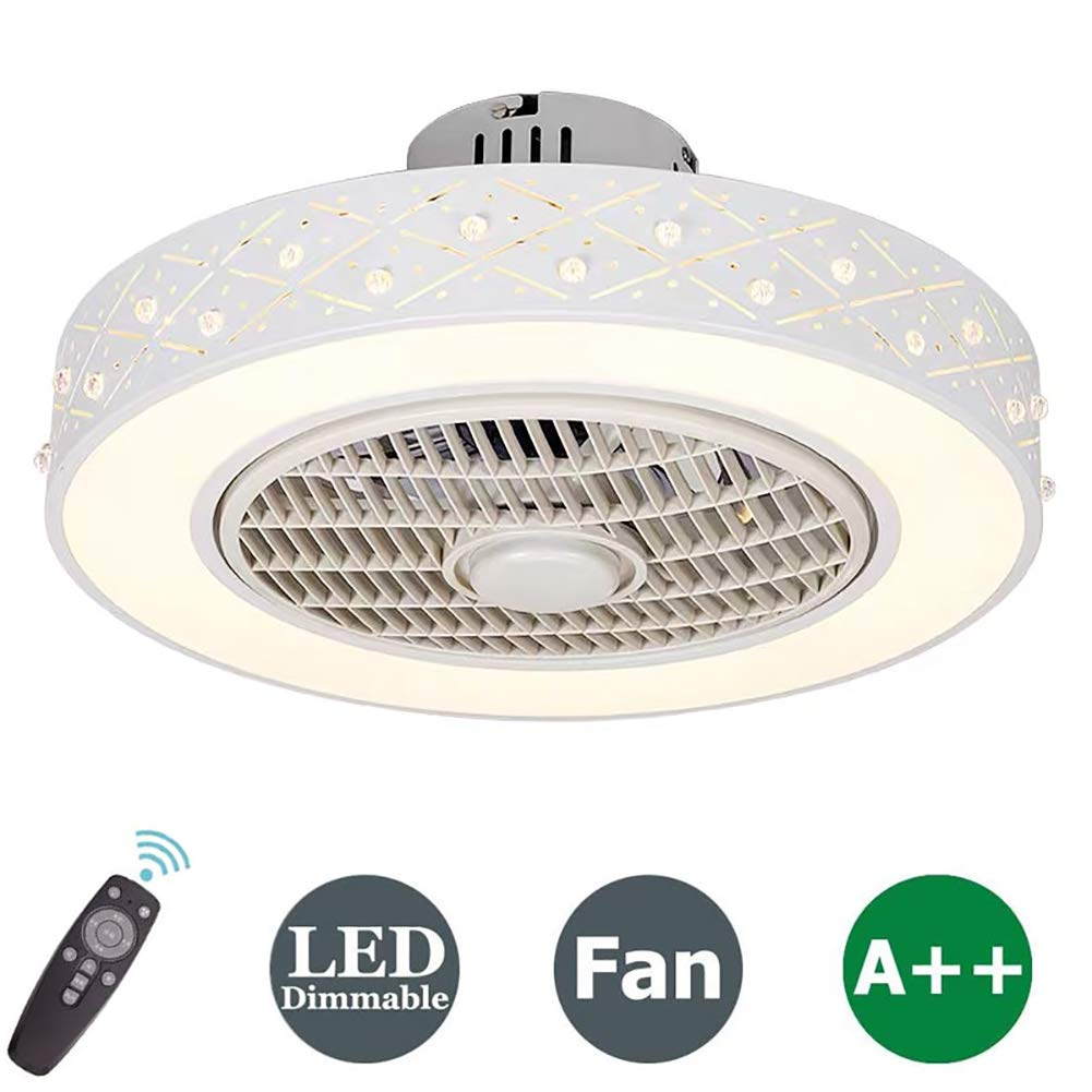 LED Dimmbar Deckenleuchte, Deckenventilator Fan deckenventilator mit  fernbedienung leise deckenventilator Schlafzimmer Lampe Wohnzimmer  Kindergarten