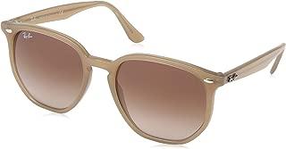 RB4306 Hexagonal Sunglasses, Opal Beige/Brown Gradient Dark Brown, 54 mm