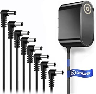 T POWER 9V UL LISTED Ac Adapter Charger 4~8 Way Daisy Chain