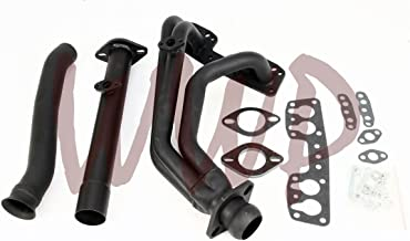 Performance Black Exhaust Headers Manifold System Kit For 90-95 Toyota Pickup/4-Runner 2.4L 22R/22RE2WD Only
