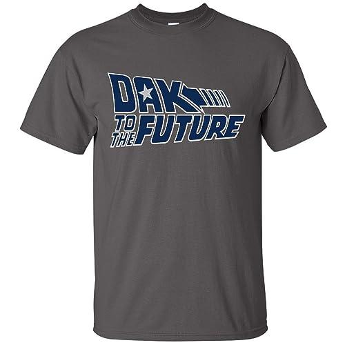 CHARCOAL Dallas Cowboys Dak Prescott Back to the Future Hooded SWEATSHIRT HOODIE