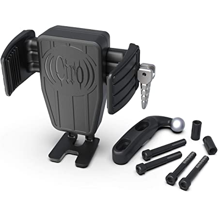 Ciro CYBERCHARGER Phone Holder with 15W Wireless Fast Charger and Black Perch Mount