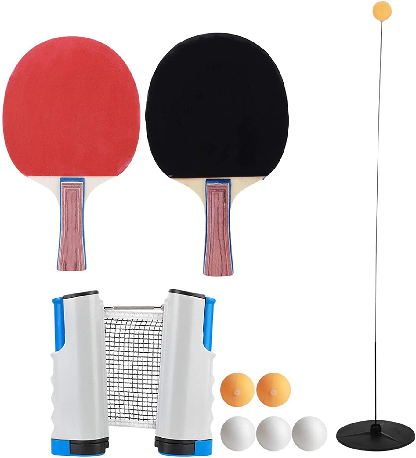 Cerlingwee Portable Table Tennis Bombing free shipping Ranking TOP16 Set ABS Seamless Retra Made of