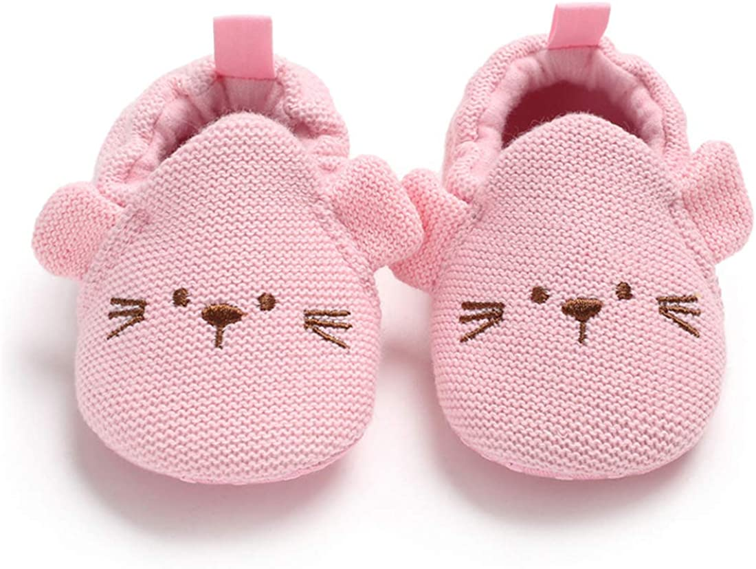 KIDSUN Infant Baby Girls Boys Slippers Cute Cartoon Animals Sneaker Moccasins Soft Shoes Non Skid First Walkers House Shoes