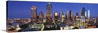 Dallas Skyline, Texas Canvas Wall Art Print, 36