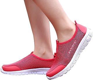 Memefood Zapatillas Mujer Deportivas De Malla Transpirable Ligero Zapato Deporte Con Plataforma En Suelas Cómodas Sneaker ...