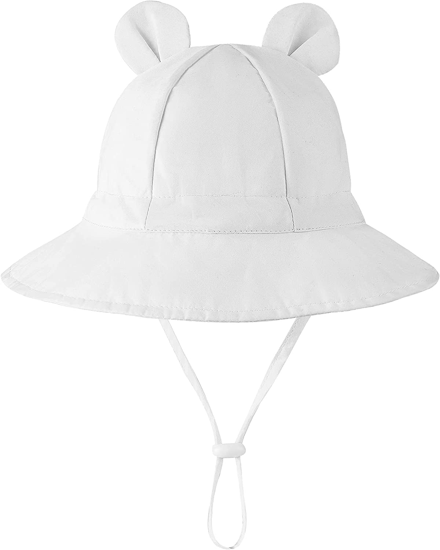 Baby Sun Hat Toddler Hats Cute Infant Hat UPF 50+ Kids Wide Brim Bucket Hat Summer Beach Swim Hat for Boys Girls