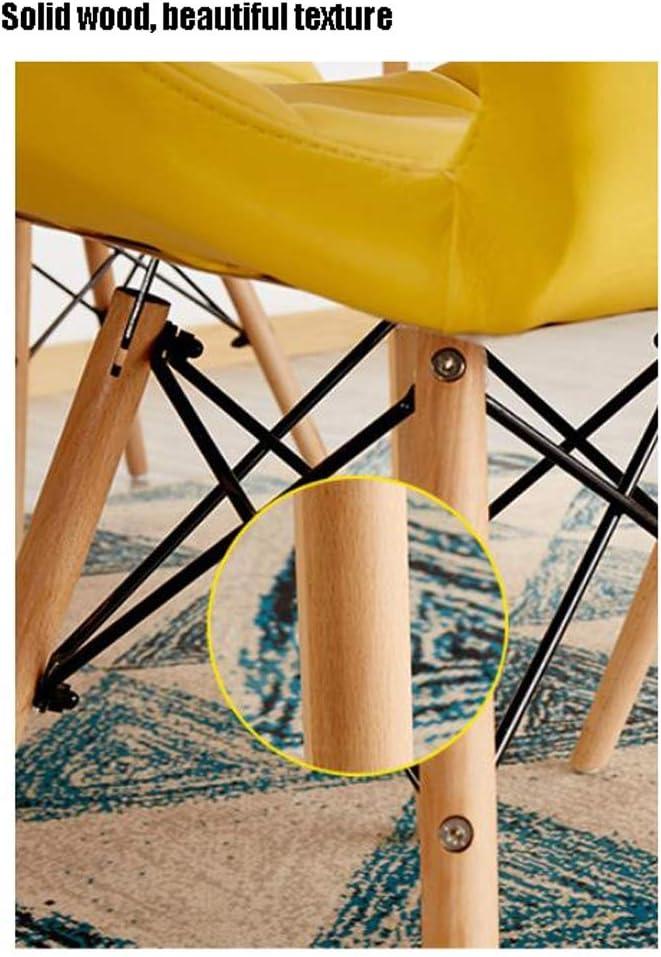 Simple Chaise Bureau étudiant et Chaise de Maquillage Tabouret Retour à la Maison à Manger Chaise d'ordinateur Unique (Color : Yellow) Green