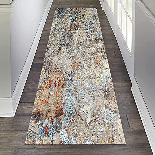 Alfombra Runner-Rug suave, antideslizante y lavable, para habitaciones, cocina, pasillo, dormitorio, ancho de pasillo de 60 cm, 80 cm, 100 cm y 110 cm (color: A, tamaño: 100 x 300 cm)