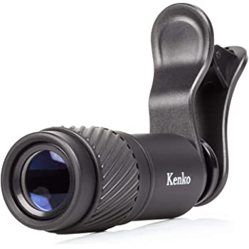 Kenko スマートフォン用交換レンズ REALPRO CLIP LENS テレ 7x クリップ式 望遠レンズ 単眼鏡兼用モデル 7倍 18口径 KRP-7t