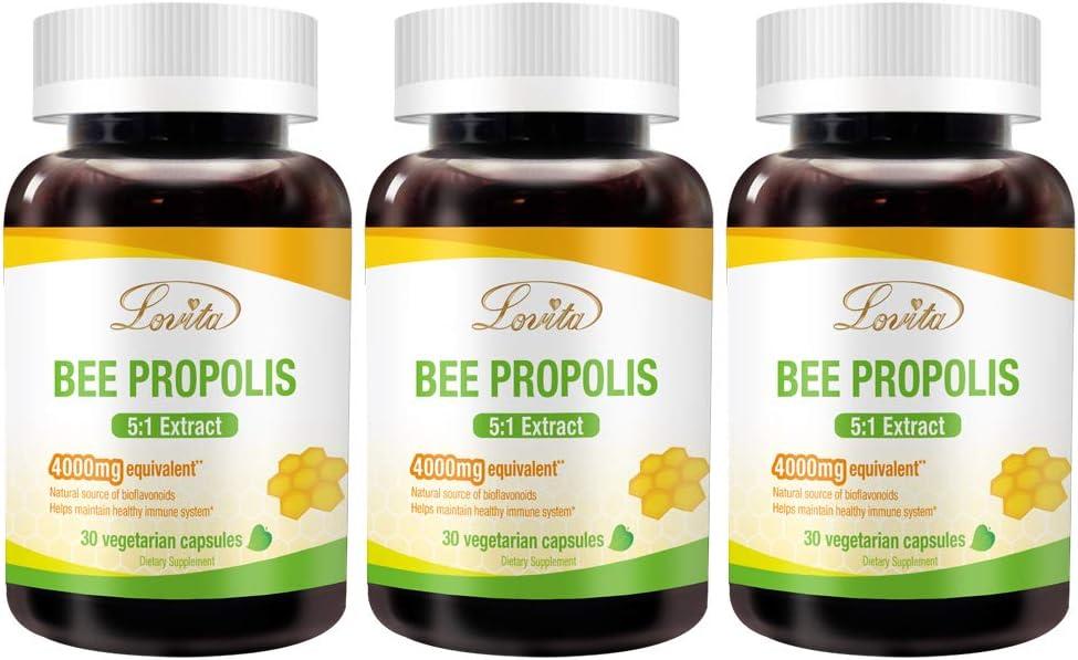 Lovita Bee Propolis Capsule 4000mg 5 Immune Max 71% NEW OFF Support Equivalent