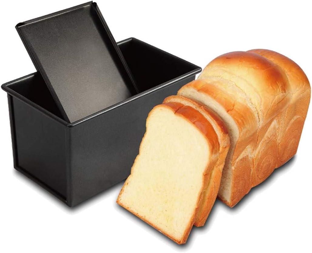 rettangolare con coperchio Gold-Rechteck-Welle-1000g Teig oro Stampo da forno per il pane Candeal antiaderente
