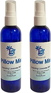 Pillow Mist - Promotes Clear Skin & Protects from Acne-Causing Funk, Cleans Pillows, Hands, and Sheets - Made in USA (Lavender, Dual Pack)